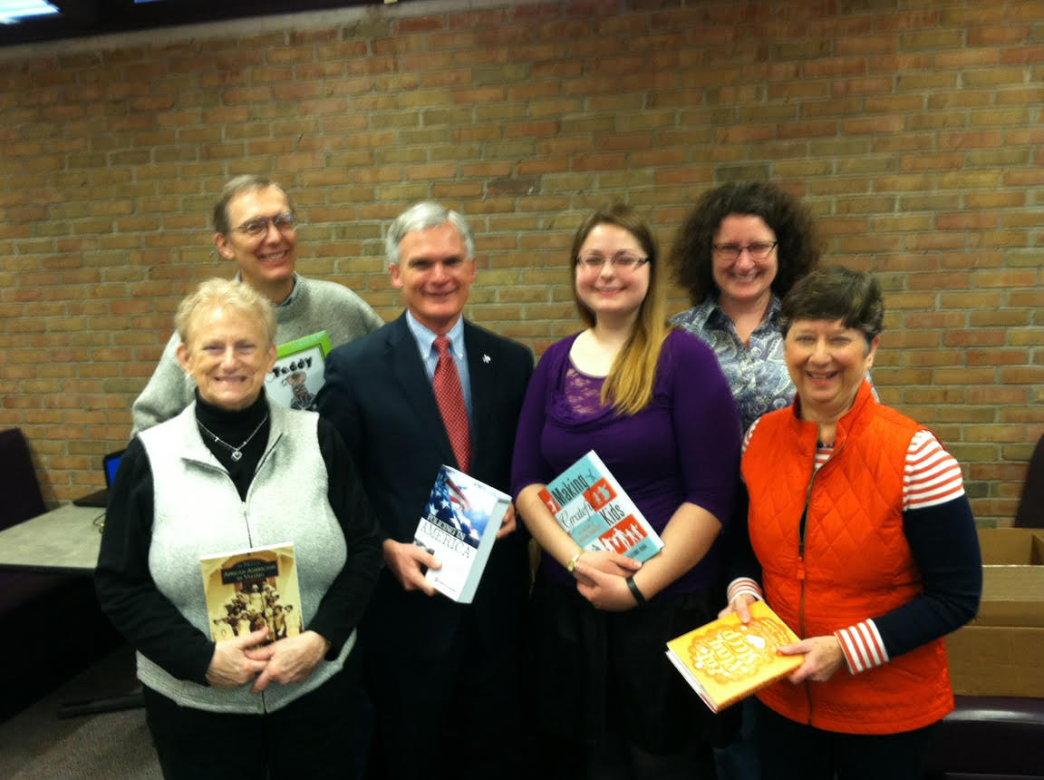 Bob Latta with Library Board members and Director Susan Lang