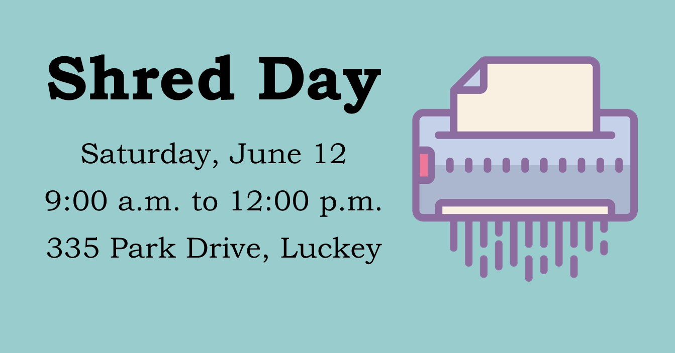 Shred Day Saturday, June 12, 2021