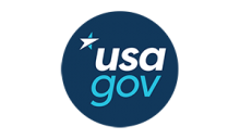 USA.gov blue and white logo
